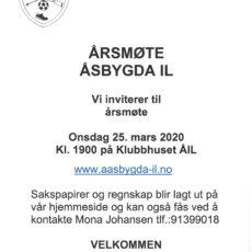 Årsmøte Åsbygda IL – UTSATT