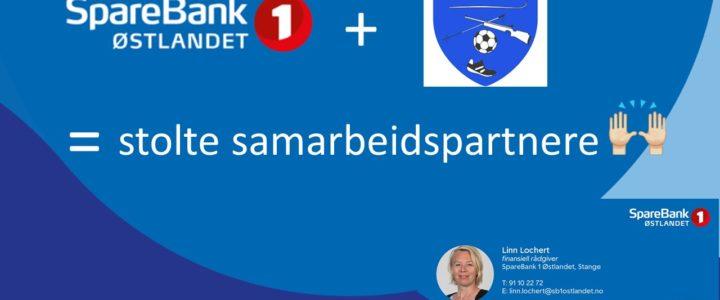 SPAREBANK 1 ØSTLANDET – EN SAMARBEIDSAVTALE VI ER STOLTE AV!
